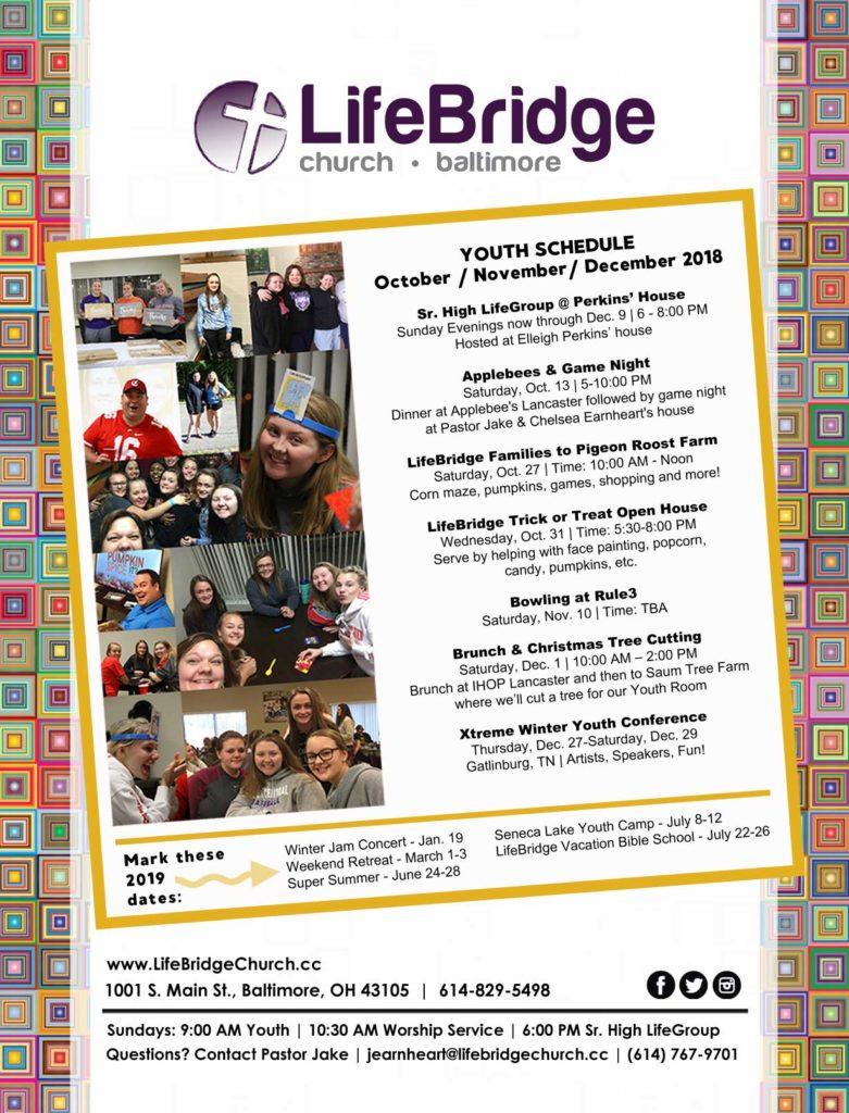 Youth Event Schedule 2018 - LifeBridge Church